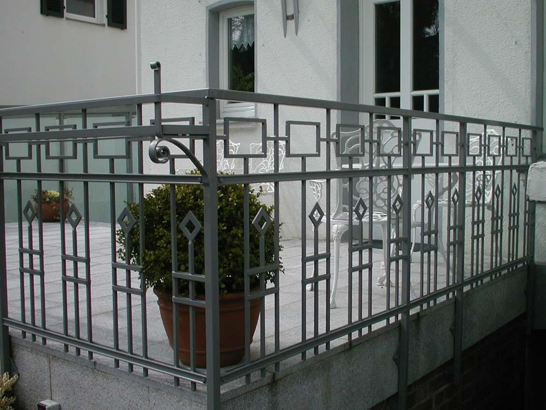 Balkon Balkongelaender Metall Schmiedekunst Schlosserei Und